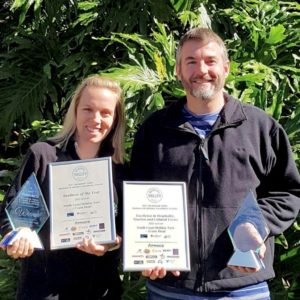 Adrian & Casey Easdown – Proud award winners for Excellence and Business of the Year, Evans Head Holiday Park (2017)